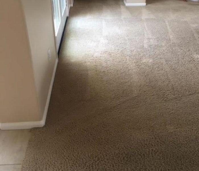New carpeting installed in a home.