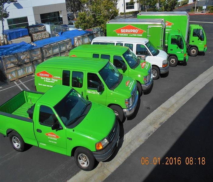 SERVPRO of Carlsbad's Friendly Fleet